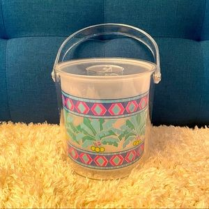 Beach palm trees summer vibes ice bucket party